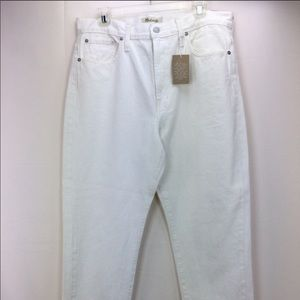 Madewell The Perfect Summer White Jeans 31